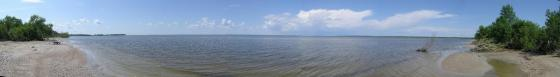 Panorama of Lake Winnipeg from Patricia Beach P.P.